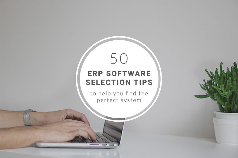 50 ERP selection tips to select the perfect system - logo