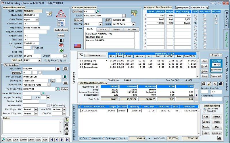 Visual EstiTrack ERP Software - ERP Pricing, Demo & Comparison