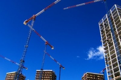 Construction ERP Cranes Skyline