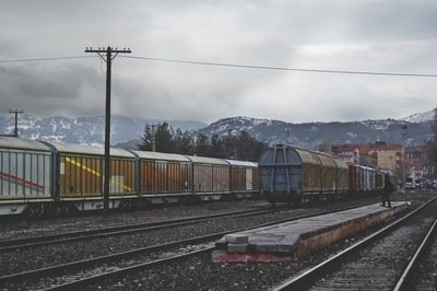 modern supply chain - freight train
