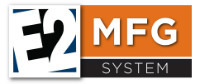 E2 Manufacturing System ERP Logo