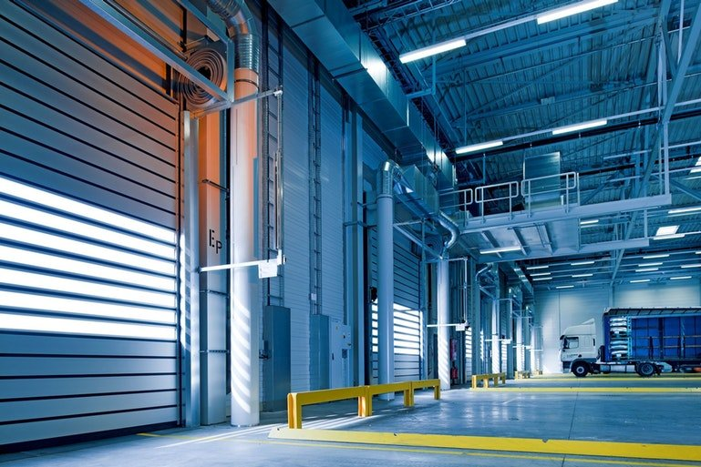 warehouse picking with ERP - delivery bay